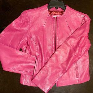 Paradox Genuine Hot Pink Leather Jacket NWOT